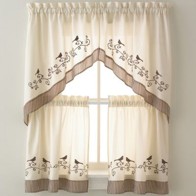Kitchen Curtains Kitchen Window Curtains Jcpenney Curtain Pinterest Curtains Cats And