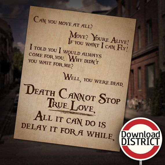 Death Cannot Stop True Love Wall Art by DownloadDistrict on Etsy