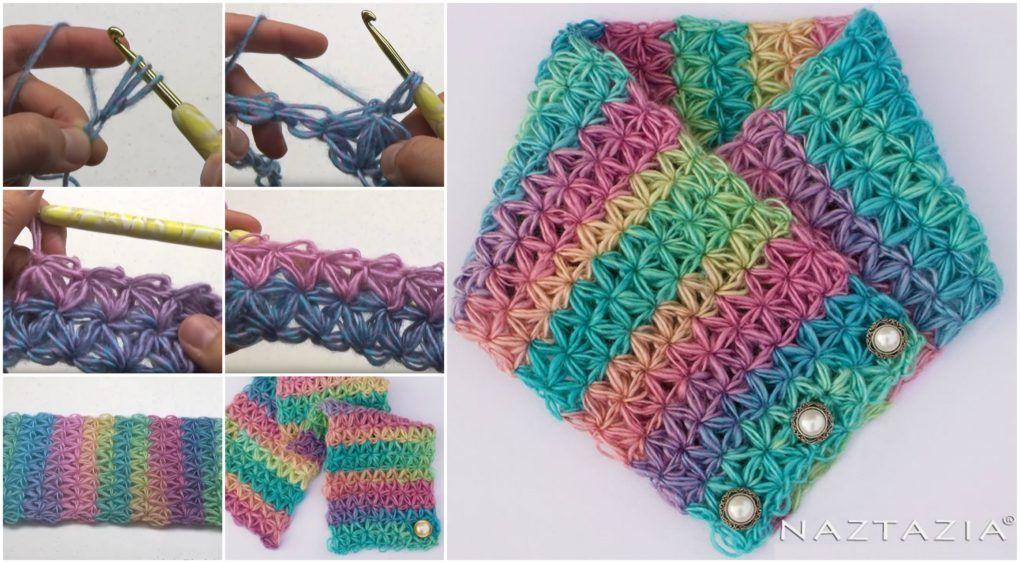Star Stitch Scarf Crochet – Free Pattern – Craft Addicts | Craft ...