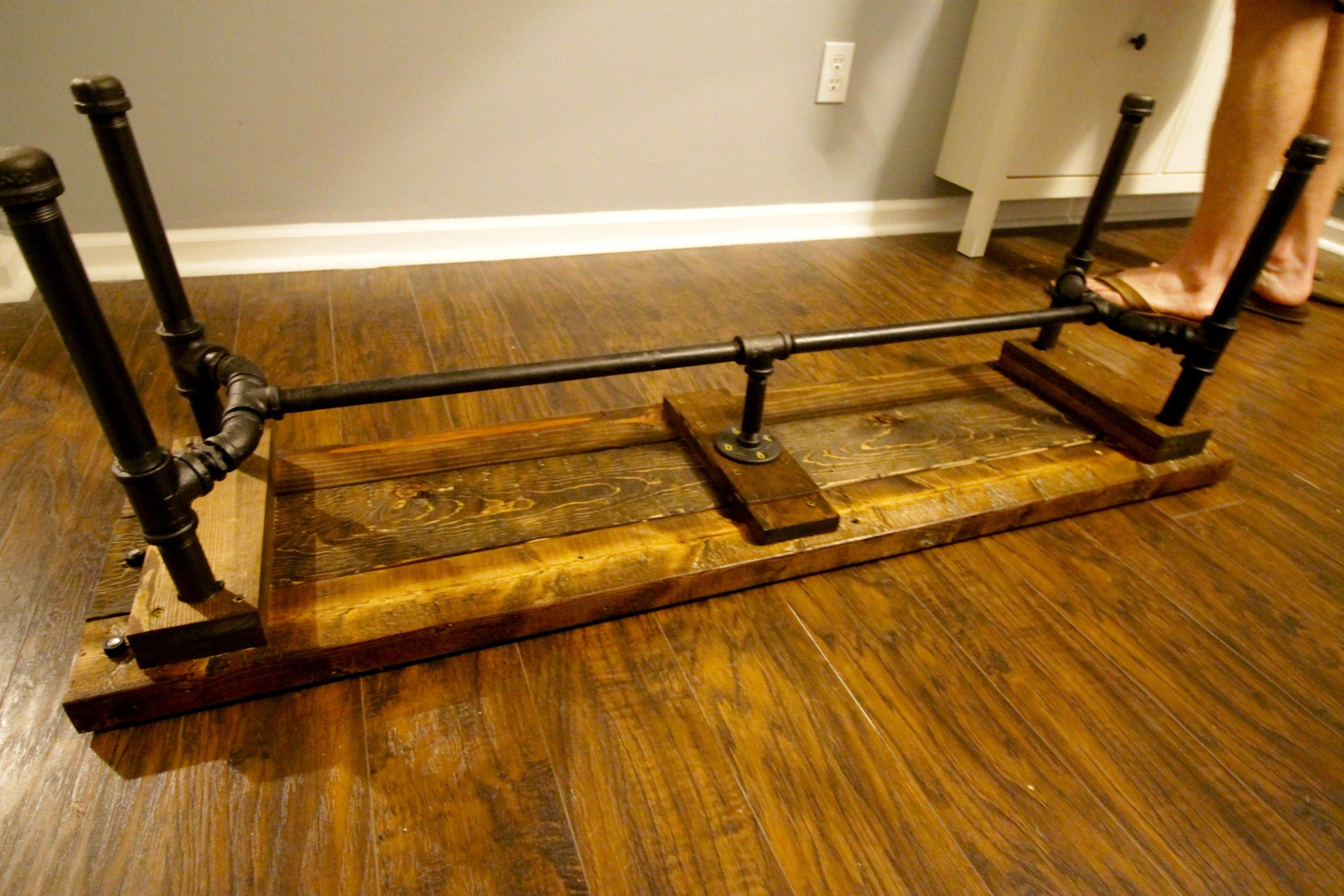 Diy Industrial Pipe Bench  Charleston Crafted