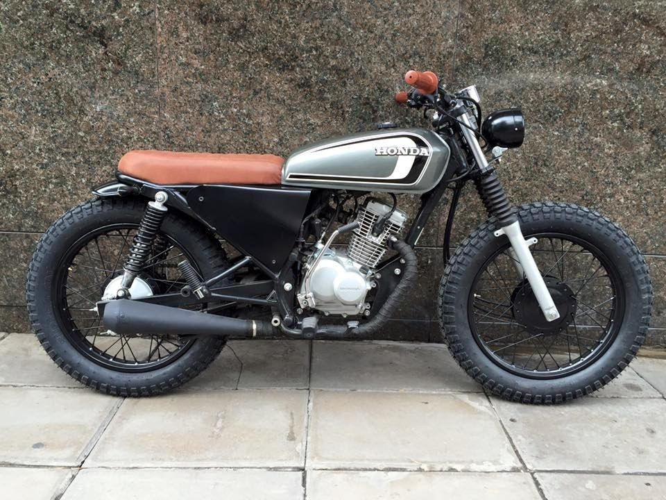 honda cb125 tracker cafe racer brat scrambler stg. Black Bedroom Furniture Sets. Home Design Ideas
