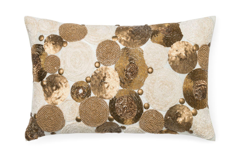 Metallic Circles Pillow Hom Furniture Furniture Stores In Minneapolis Minnesota Midwest Beige Pillows Throw Pillows Metallic Throw Pillow