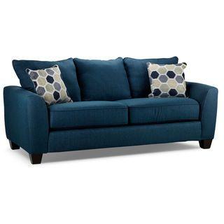 Surprising Heritage Sofa Navy Home Dark Wood Furniture Living Cjindustries Chair Design For Home Cjindustriesco