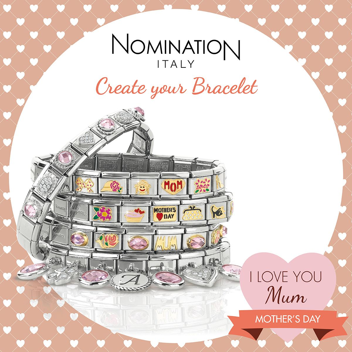 Say I love you this Mother s Day with a Nomination charm. Available at  bertie browns 7e63c6547