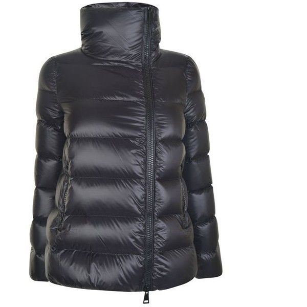 Moncler Salix Logo Coat (7 465 SEK) ❤ liked on Polyvore featuring outerwear,