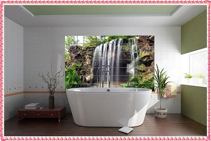 Decorative Wall Tiles For Bathroom Digital Printed 3D Bathroom Tiles 3D Bathroom Wall Tile Designs