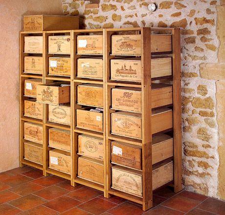 l 39 embellie que faire avec des caisses vin meubles. Black Bedroom Furniture Sets. Home Design Ideas
