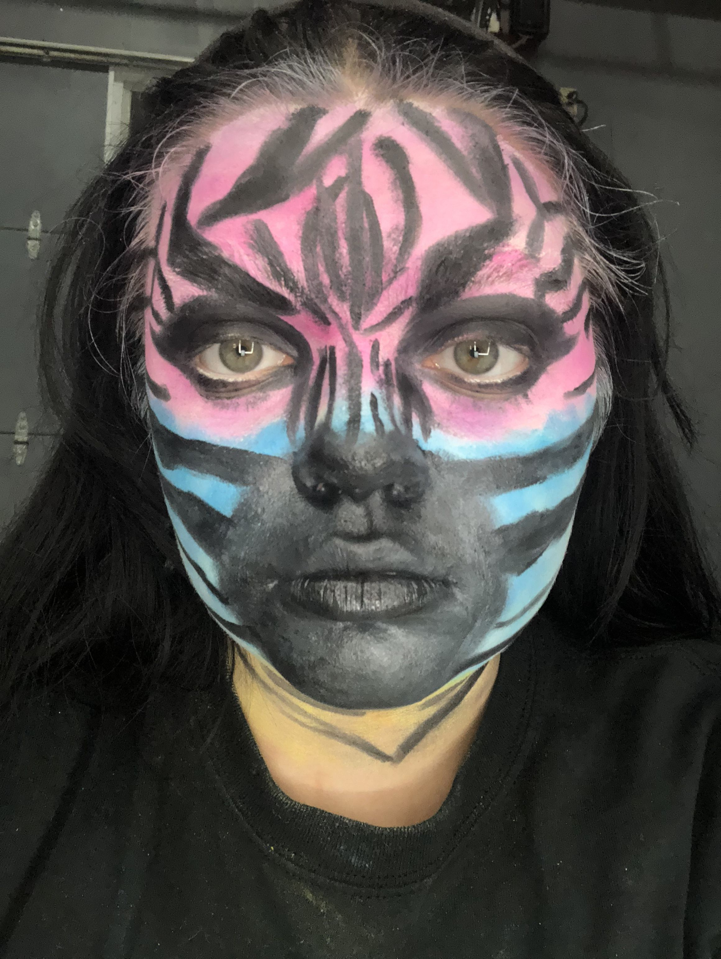 Pin By Courtney Thoroughgood On Animal Within Line Drawing Carnival Face Paint Halloween Face
