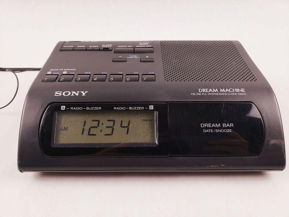 sony manual clock radio