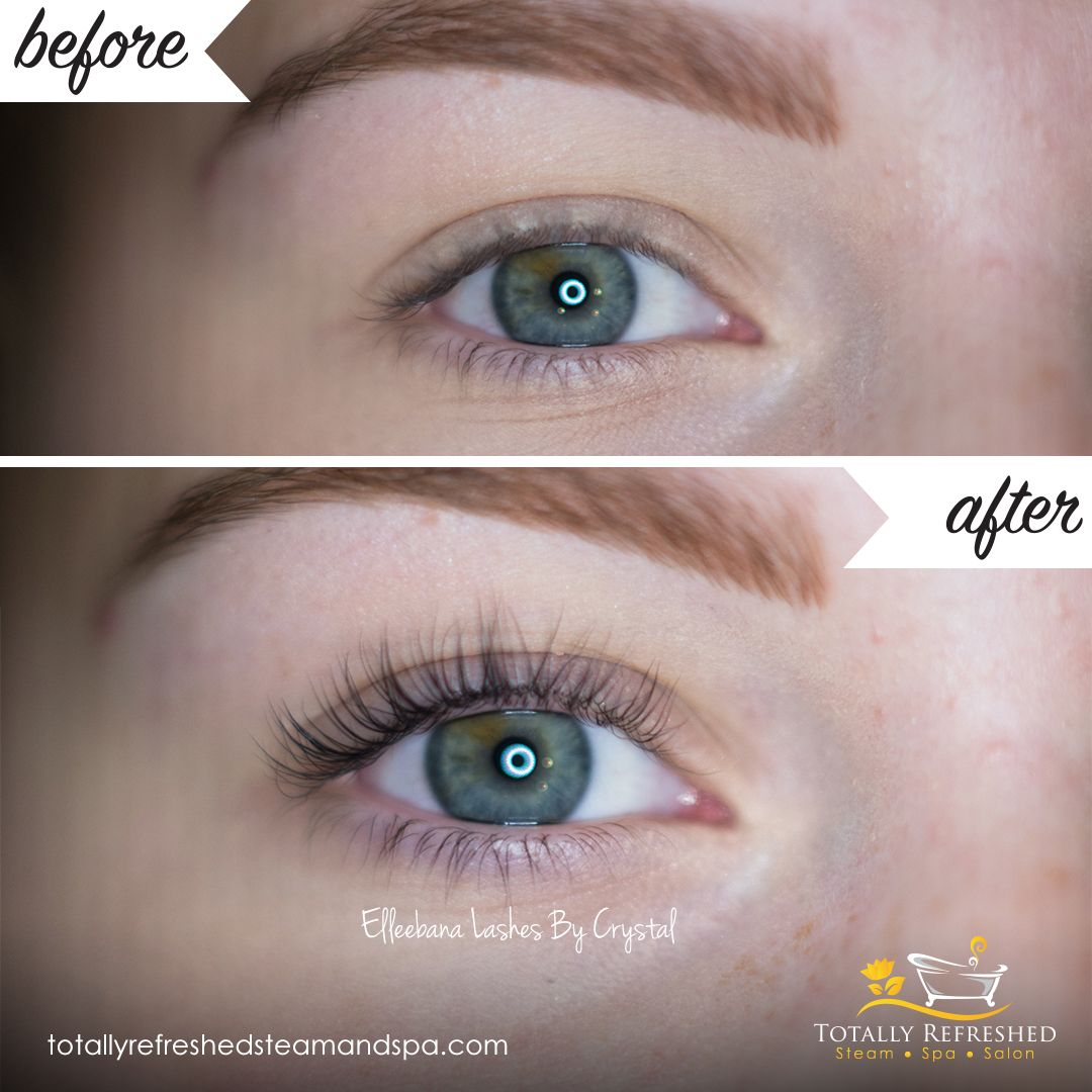Before After Elleebana Lash Lift Tints Lashes By Crytsal Eye