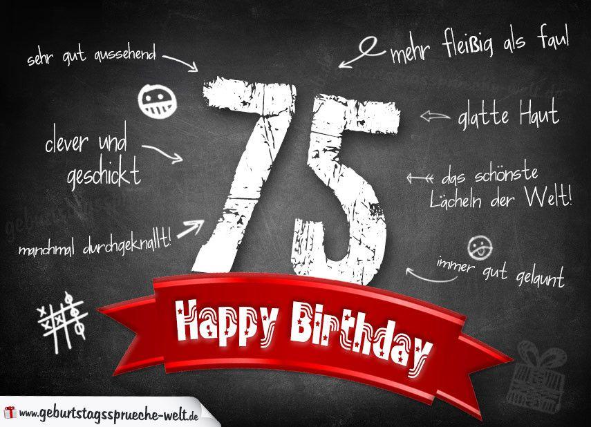 Geburtstagskarten Spruche Zum 75 Geburtstag Fresh Komplimente