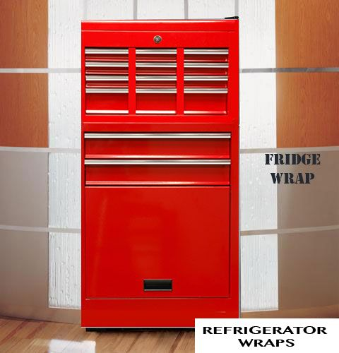 Garage Fridge Wraps Rm Wraps In 2020 Refrigerator Wraps Modern Refrigerators Red Refrigerator