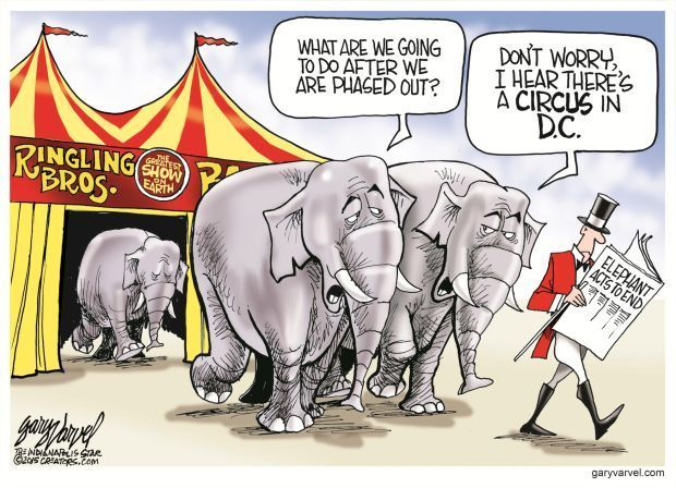 Editorial Cartoon by Gary Varvel March The Republicans used to be the party of  The Big Tent . In DC  The Circus is in town  except when Congress is on ...  sc 1 st  Pinterest & Offering perspective on todayu0027s issues | Political Humor ...