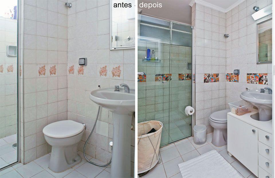 Deixe seu apartamento alugado com cara de reformado  Bonito, Interiores e Ems -> Banheiro Apartamento Decorado Adesivo