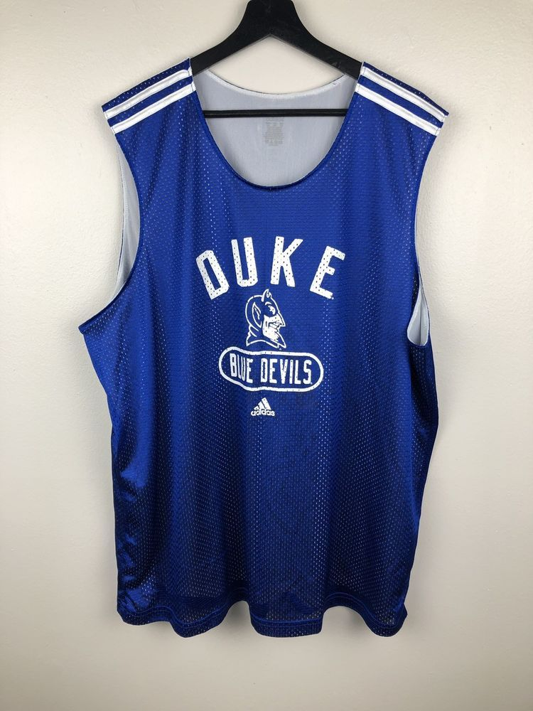 ee2381c7a Adidas Duke Blue Devils Basketball Practice Jersey Size 2XL Free Shipping