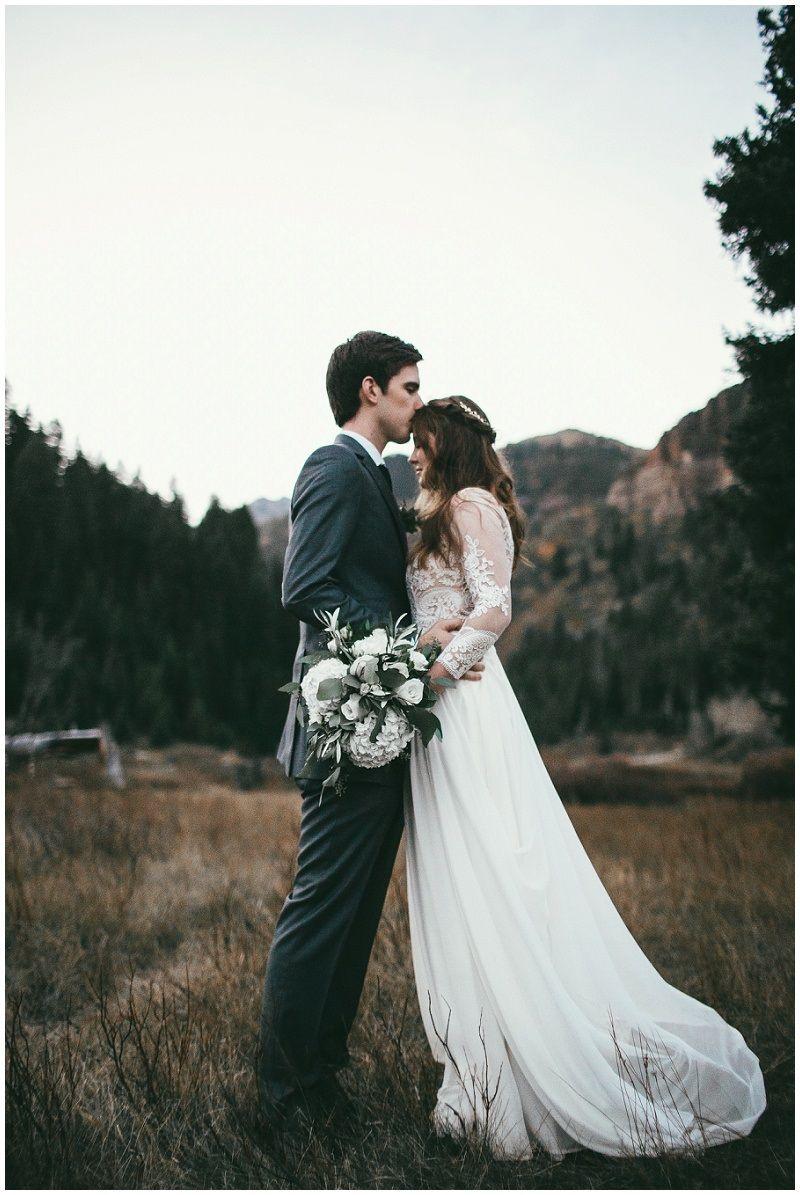 Modest Wedding Dress With Flowy Bottom From Alta Moda Bridal In Slc Ut