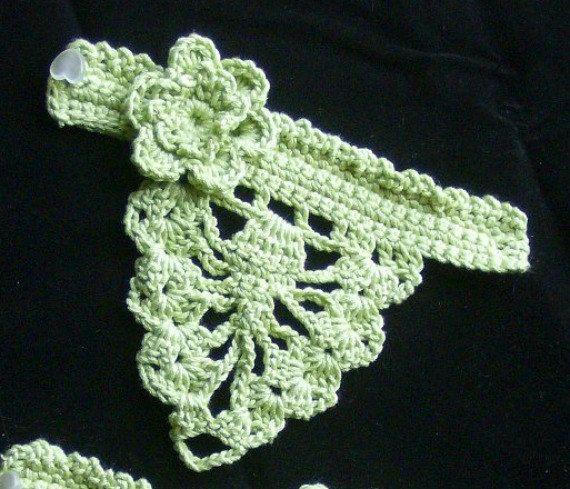 Crochet Fingerless Gloves - Girls Lime Green. $10.00, via Etsy.