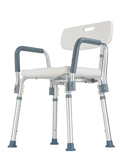Shower Chair With Backrest And Armrest Easy To Assemble No Tools Needed New Improved Model 3 Find Out More By Clicking The Visit Button