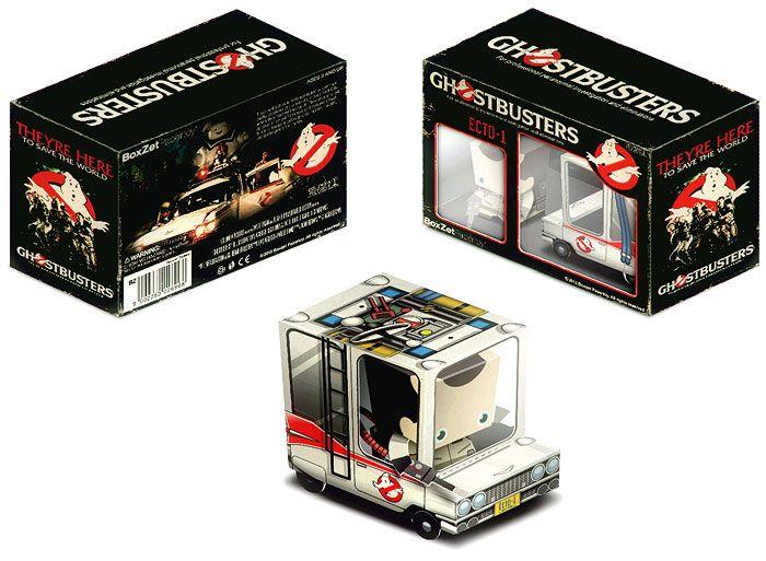 Papercraft imprimible y armable del camión de los Cazafantasmas / Ghostbusters. Manualidades a Raudales.