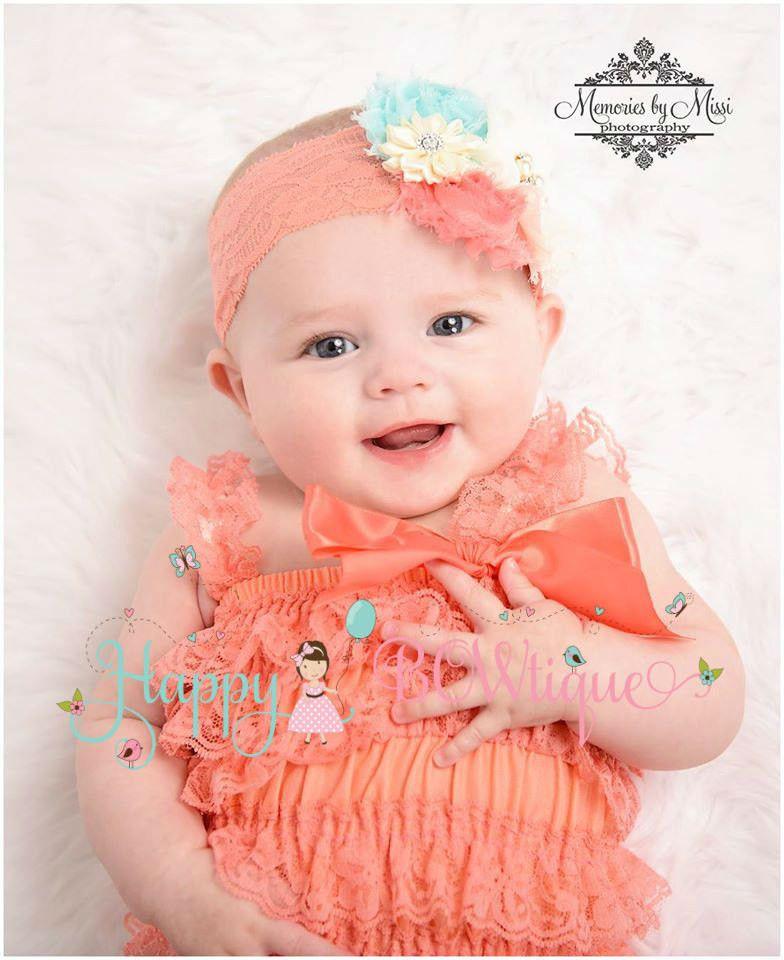 7d57cbe438d6 Coral Lace Romper set - Happy BOWtique - children s clothing