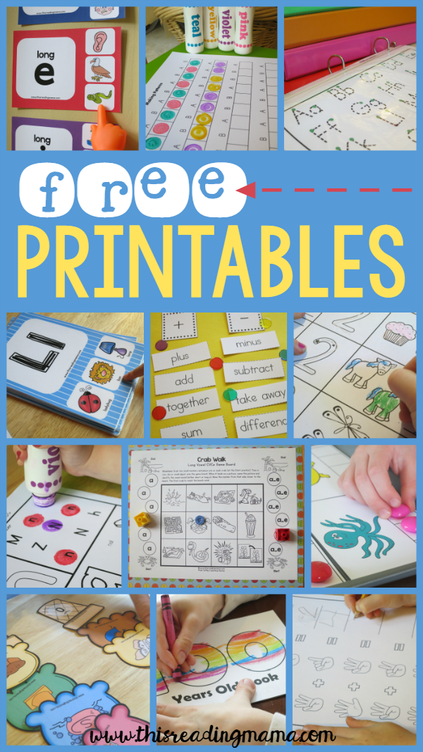 FREE Printables and Learning Activities | Best of This Reading Mama ...