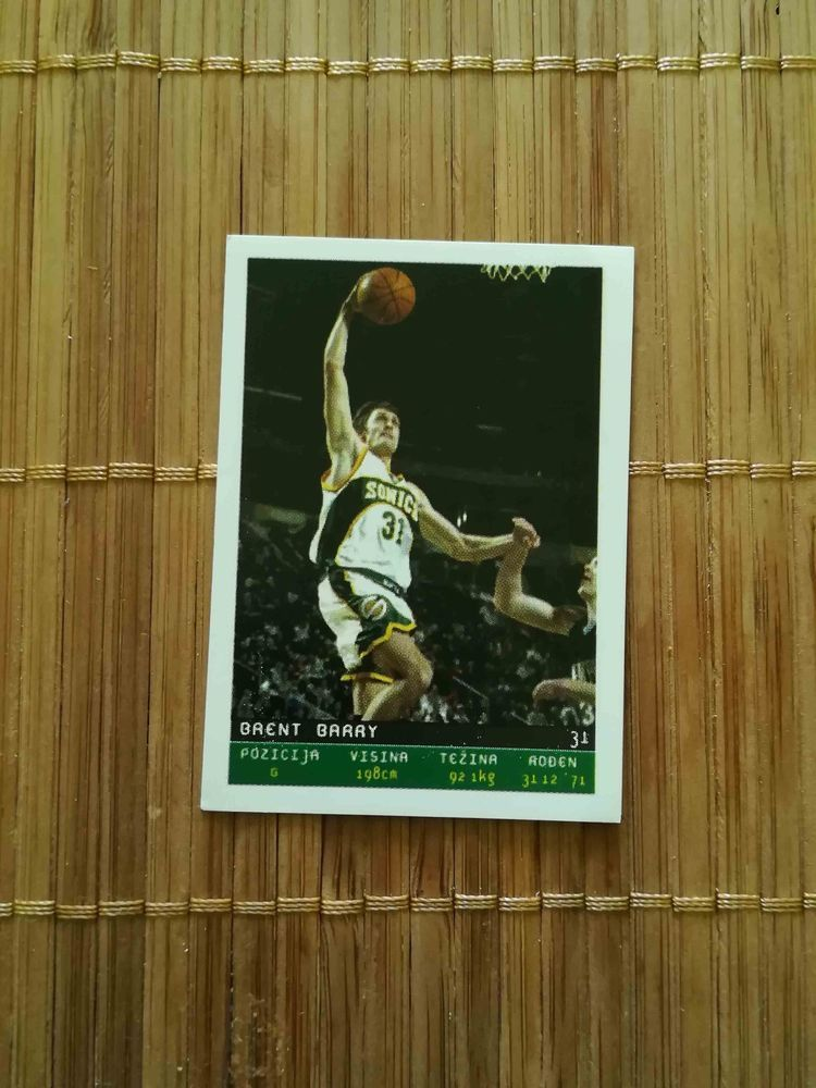 Brent Barry Seattle Supersonics Sticker 130 Nba Total Basketball 2002 Luxor Seattlesupersonics Brent Barry Basketball Cards Baseball Cards