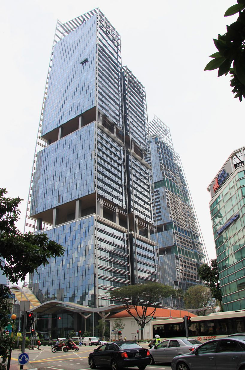 Norman Foster And Partners Beach Road Singapore Towers Construction W South Slideshow