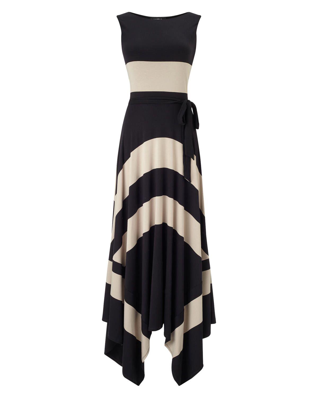 Wide Stripe Maxi Dress