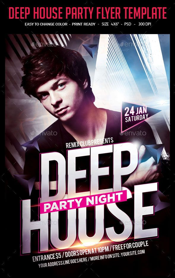 Deep House Party Flyer Template This a unique big parties and