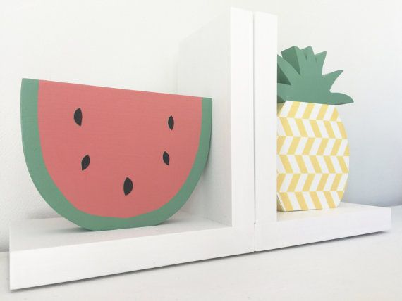 Watermelon And Pinele Bookends