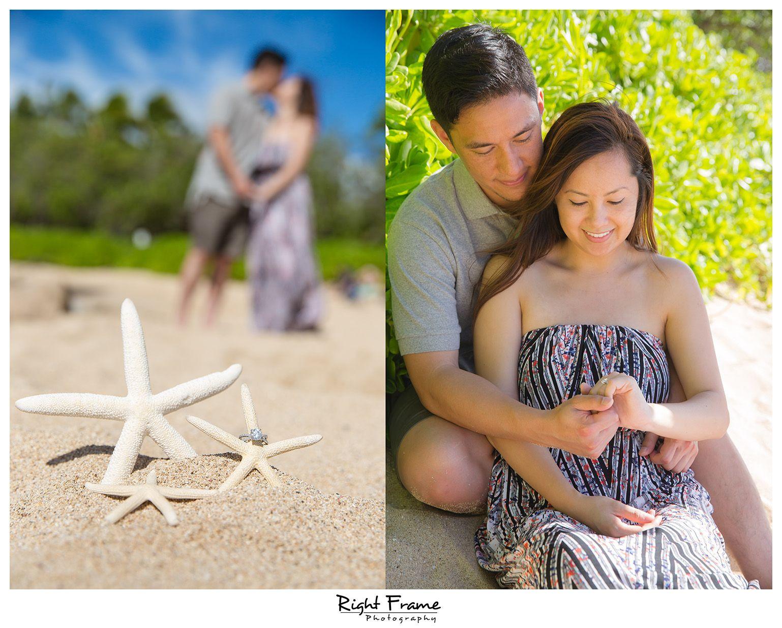 www.RightFrame.net - Surprise Engagement Proposal at Ko Olina Beach, (Secret Beach) near Four Seasons Hotel Ko'Olina, Oahu, Hawaii. Photography Ideas.
