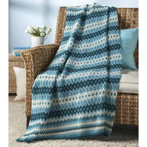 Crochet Fair Isle Afghan Download Crochet Pattern | Crochet and ...