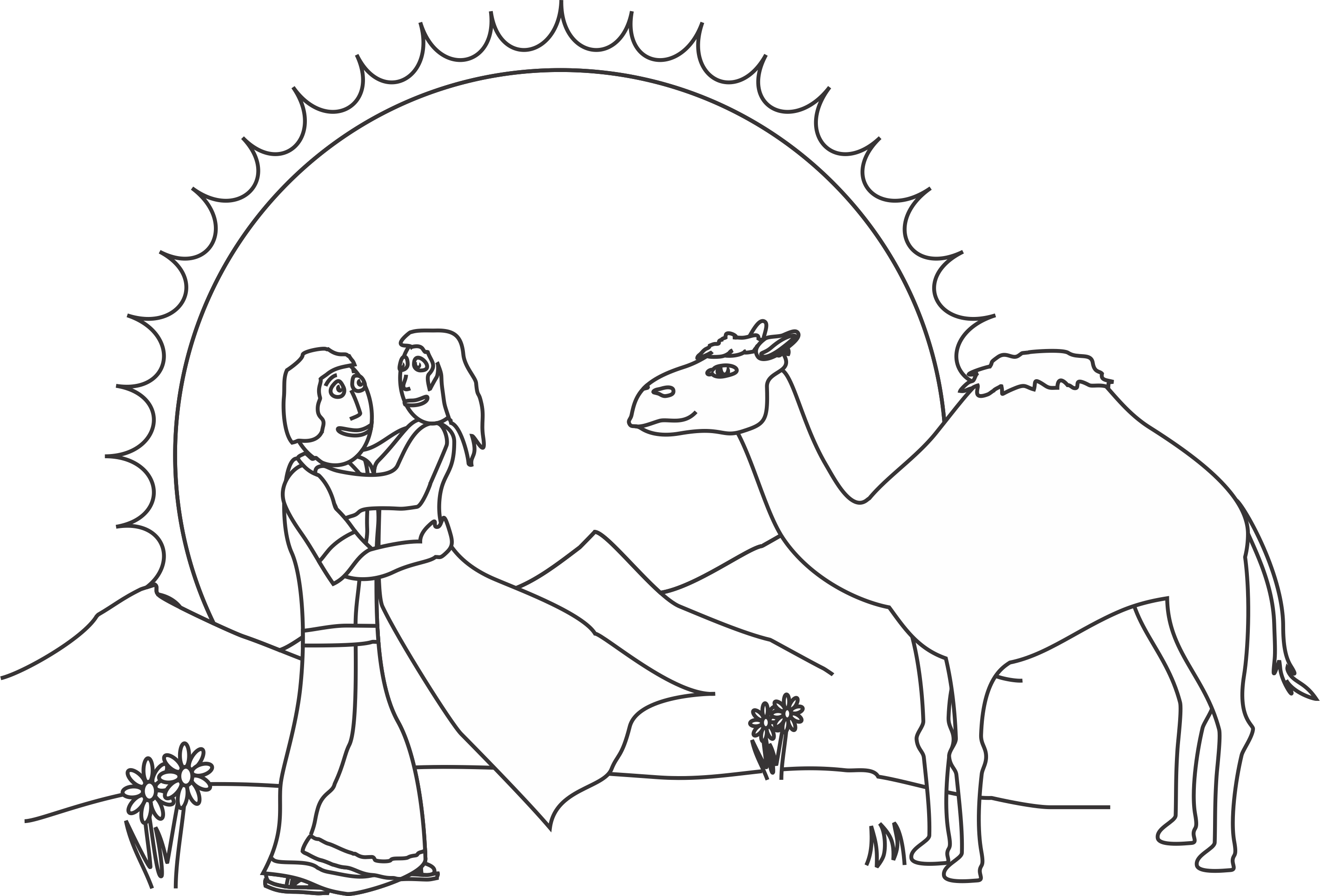 Isaac And Rebekah Coloring Page Our Bible Coloring Pages