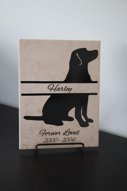 Dog Memorial Sign, In Memory Pet Sign, Bereavement Gift