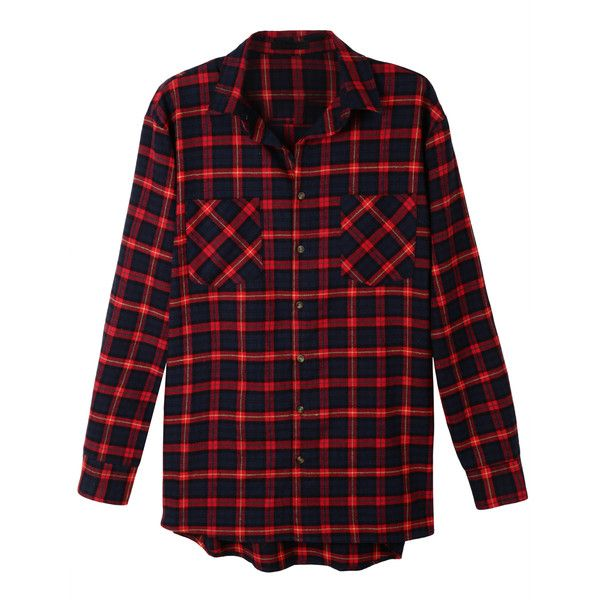 le3no womens oversized plaid long sleeve flannel boyfriend