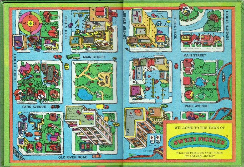 The Sweet Pickles Book Series Remember Worry Walrus And Fix It - Town map for kids
