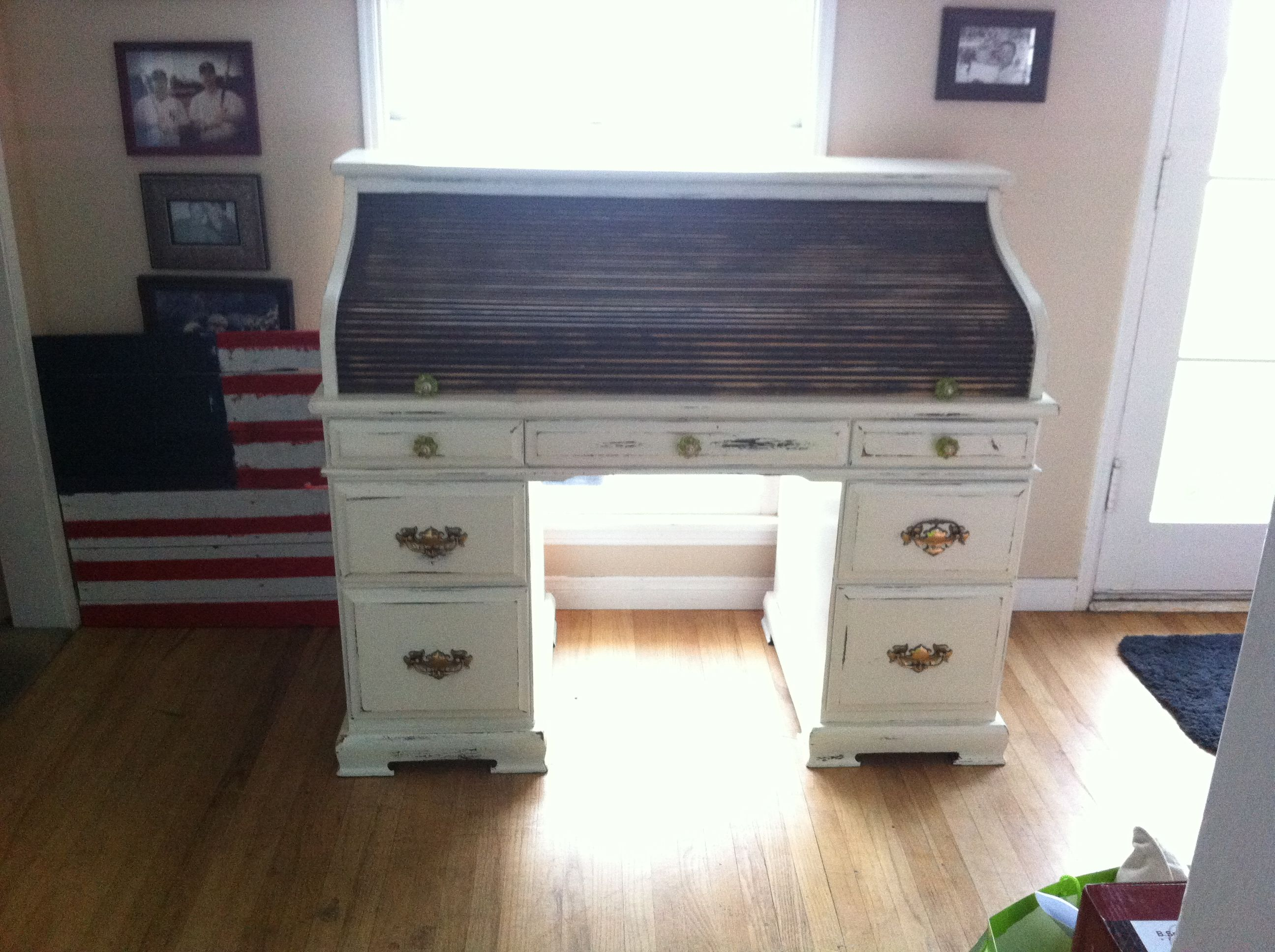 Refinished roll top desk Roll top desk, Home decor