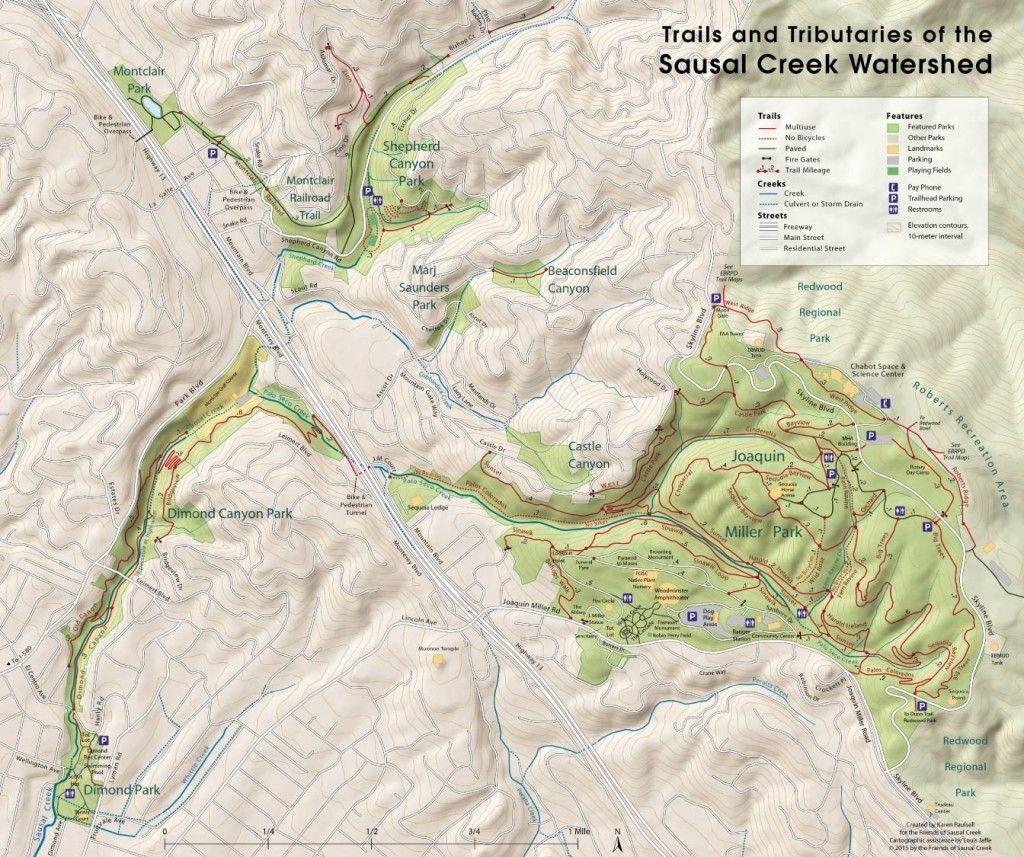 Sausal Creek Watershed Map