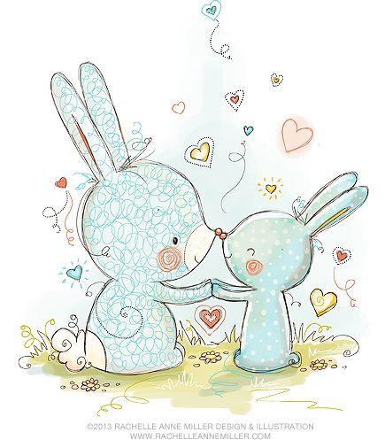 Happy easter rachelle anne miller art b b dessins mignons et image paques - Petit quick coloriage ...