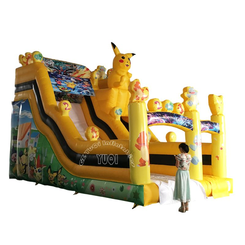 Start Your Nice Day With Yuqi Yq20 Best Qaulity Inflatable Pool Slide Pikachu Children Slide Play Http Guangz Kids Slide Outdoor Games For Kids Outdoor Kids