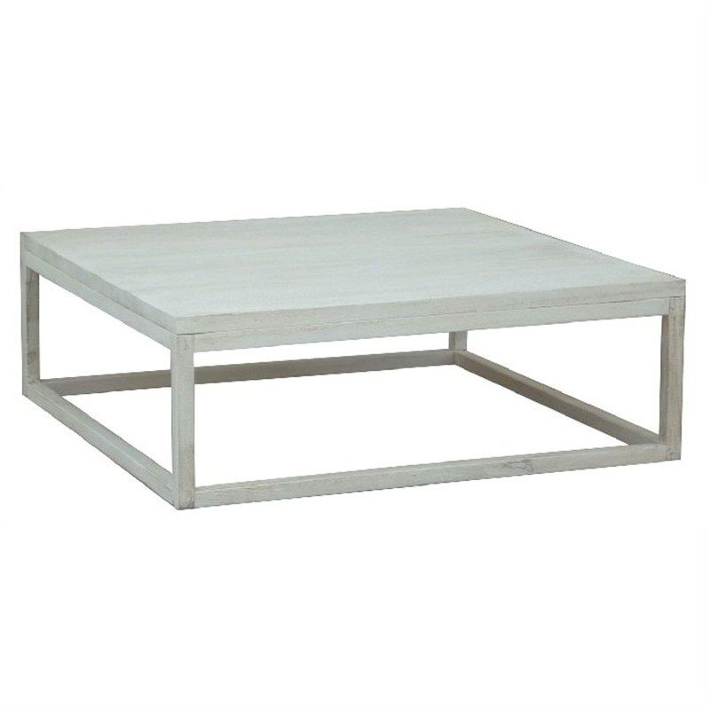 Osaka Coffee Table in White Wash Mango Wood For the Home