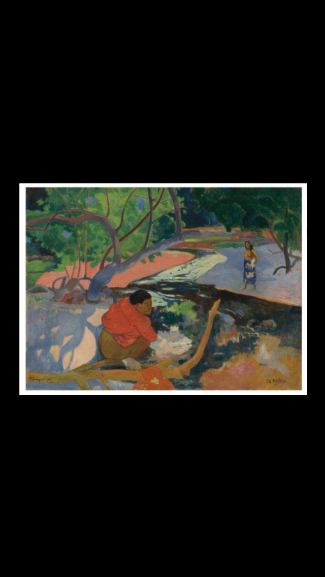 Paul Gauguin Poster Reproduction - Te Vaa (24 x 30 cm