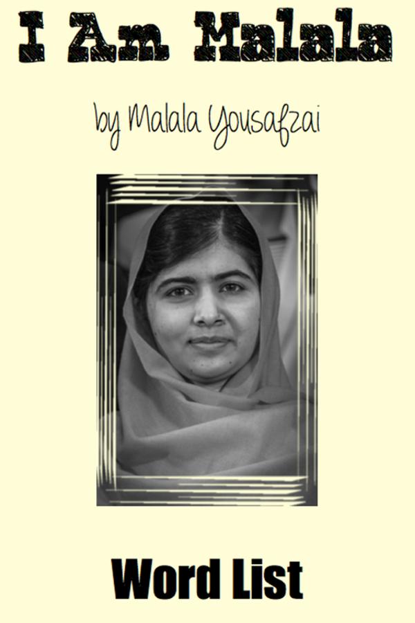 I Am Malala (Word List) | Pinterest