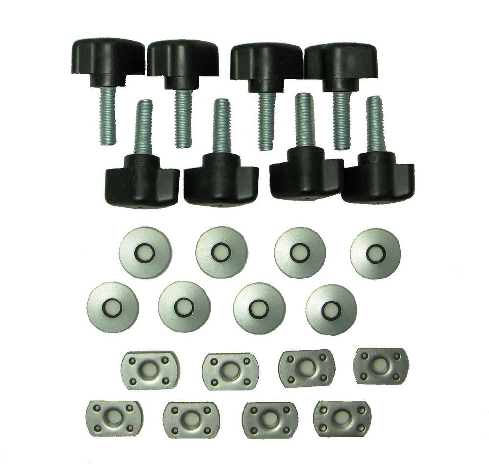 Universal Jeep Wrangler Easy On Off Hard Top Fasteners Nuts Screws