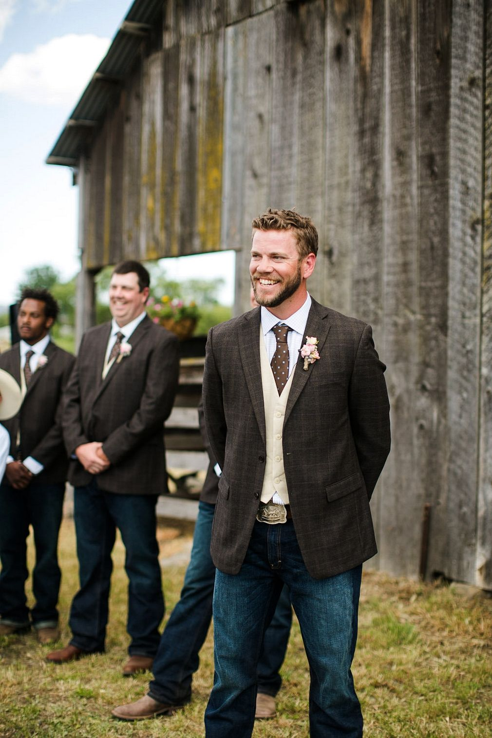 Country style groomsmen attire ideas wedding weddings for Wedding dress shirts for groom