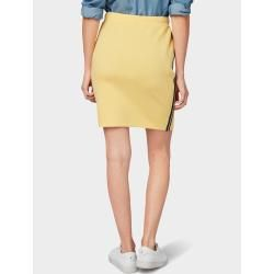 Photo of Tom Tailor women's jersey skirt with fasion tape, yellow, two-tone, size 42 Tom TailorTom Tailor
