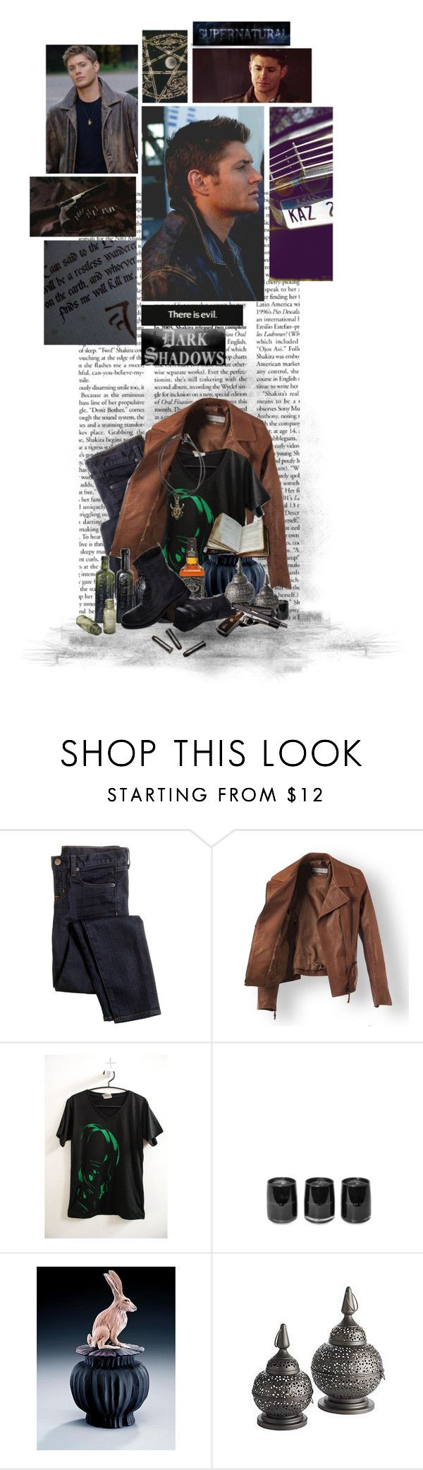 """.Dean Winchester's Style."" by the-sunflower ❤ liked on Polyvore featuring J.Crew, D.L. & Co., Nancy Y. Adams, Pier 1 Imports and H by Hudson"