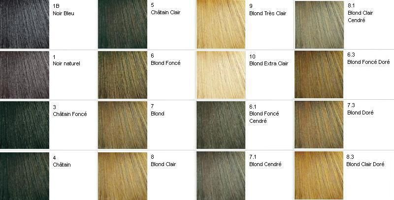 nuancier-faicolor | Cheveux/Couleurs | Pinterest
