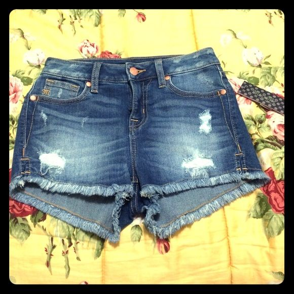 Miss Me Shorts Miss Me Shorts. High Rise Shorts. Size 25.                                        H05203H14.                                                             MED BLU.                                                                  Never Been Worn. Brand New. Miss Me Shorts Jean Shorts