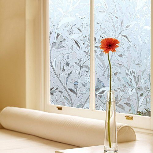 Window Film Bloss Fashion Hibiscus Opaque Frosted Glass Window